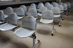 Waiting chairs  the hospital. Waiting chairs in the hospital Stock Photos