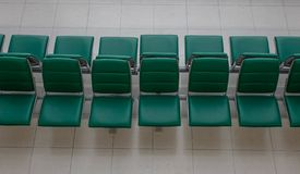 Waiting chairs at the international airport royalty free stock images