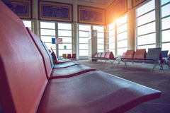 Waiting chairs zone in airport. Stock Images