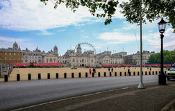 Waiting for Changing of the Guards, London, England Stock Photo