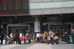 Waiting for check the tickets of the Passengers in SHENZHEN Royalty Free Stock Photography