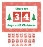 Waiting for Christmas calendar Royalty Free Stock Images