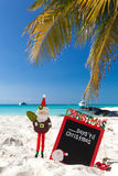 Waiting for Christmas holiday on tropical vacation Stock Image