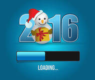 2016 waiting for christmas illustration design. Over a blue background vector illustration