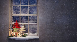 Waiting Christmas night Royalty Free Stock Photography