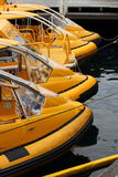 Waiting for a customer. Water taxis moored in Darling Harbour, Sydney Stock Photography