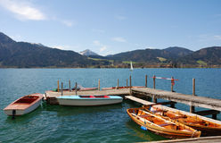 Waiting for customers. At lake Tegernsee Royalty Free Stock Photos