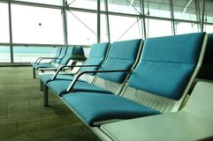 Waiting for Customers. Empty airport waiting lounge Stock Photography
