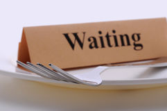 Waiting dinner plate Royalty Free Stock Images
