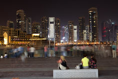 Waiting for Dubai Fountain Royalty Free Stock Photo