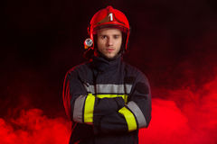Waiting fireman. Royalty Free Stock Photos