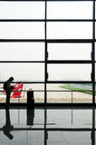 Waiting for Flight stock photography
