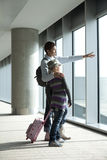 Waiting for the flight Royalty Free Stock Photography