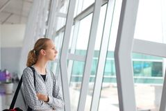 Waiting for a flight Stock Photos