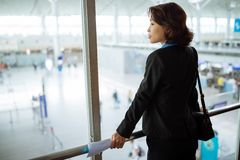 Waiting for flight Royalty Free Stock Photography