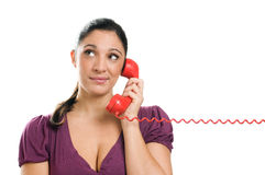 Waiting For An Answer At The Phone Stock Photo
