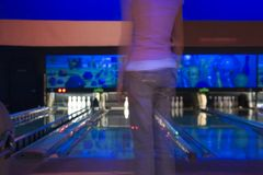 Free Waiting For Her Turn In The Bowling Alley Royalty Free Stock Photos - 510578