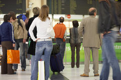 Waiting For The Plane Royalty Free Stock Photography