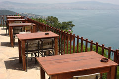 Outdoor Restaurant with a Marvelous Panoramic View Royalty Free Stock Image