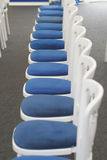 Waiting for the Guests. A row of chairs set out for guests royalty free stock photography