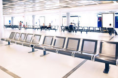 Waiting hall in airport Royalty Free Stock Images