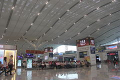 Waiting hall in SHENZHEN High speed railway station Stock Image