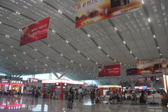 Waiting hall in SHENZHEN High speed railway station Royalty Free Stock Photography