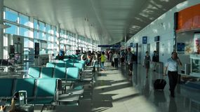 The waiting hall in YANTAI airport (YANTAI,Shandong) Royalty Free Stock Photo