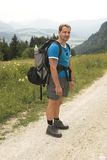 Waiting hiker. Summer vacation in tirol alps Stock Images