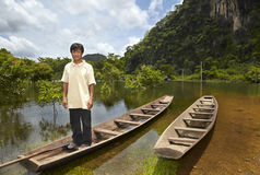 Waiting on his boat sailor Royalty Free Stock Image