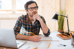 Waiting for inspiration. Royalty Free Stock Photos