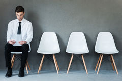 Waiting for interview. Royalty Free Stock Photography