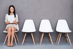 Waiting for interview. Royalty Free Stock Photos