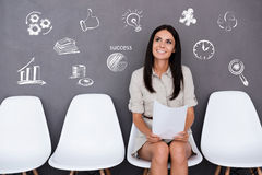 Waiting for interview. Royalty Free Stock Photo