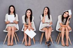 Waiting for interview. Stock Photos