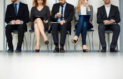 Waiting for interview Stock Images