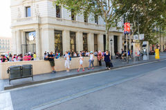 Waiting for the iPhone six - Barcelona Royalty Free Stock Images