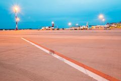 Waiting Jets in airport Royalty Free Stock Photography