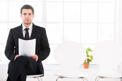 Waiting for job interview. Stock Photo