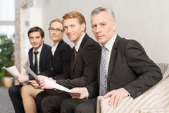 Waiting for job interview. Royalty Free Stock Photos