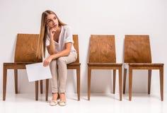 Waiting job interview Stock Photo