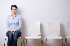 Waiting for a job interview Royalty Free Stock Photography