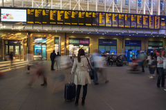 Waiting at King's Cross Station Stock Images