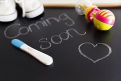 Waiting for labour, maternity concept. stock image