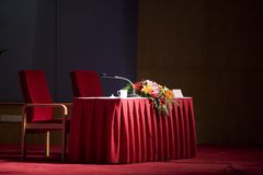 Waiting lecture stage 2 Royalty Free Stock Photography