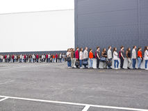 Waiting in Line. Large group of people waiting in line Royalty Free Stock Photos