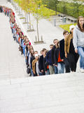 Waiting in Line Royalty Free Stock Image