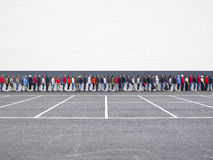 Waiting in Line. Large group of people waiting in line Stock Image