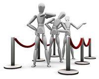 Waiting in line Royalty Free Stock Photo