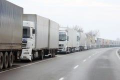 Waiting lorries Royalty Free Stock Photos
